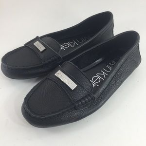 🆕 Calvin Klein Leta Leather Loafers Women's 7.5